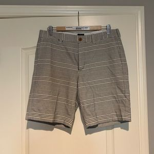 Men's J Crew Gramercy 32w blue/white stripe shorts